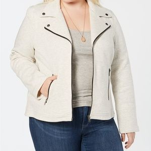 Style & Co Plus Size French-Terry Moto